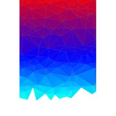 Gradient Red Blue Landfill 5.5  x 8.5  Notebooks