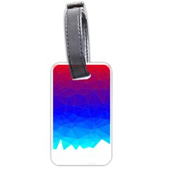 Gradient Red Blue Landfill Luggage Tags (one Side)