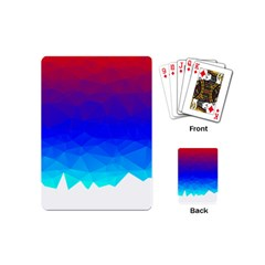 Gradient Red Blue Landfill Playing Cards (mini)