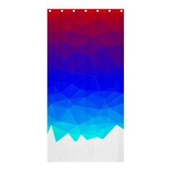 Gradient Red Blue Landfill Shower Curtain 36  X 72  (stall)