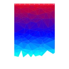 Gradient Red Blue Landfill Shower Curtain 48  X 72  (small)