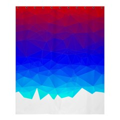 Gradient Red Blue Landfill Shower Curtain 60  X 72  (medium)