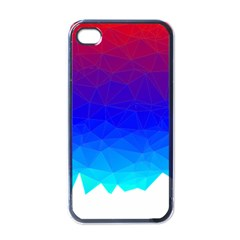 Gradient Red Blue Landfill Apple Iphone 4 Case (black)