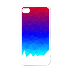 Gradient Red Blue Landfill Apple Iphone 4 Case (white)