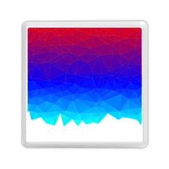 Gradient Red Blue Landfill Memory Card Reader (square)