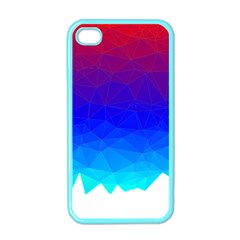 Gradient Red Blue Landfill Apple Iphone 4 Case (color)