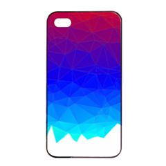 Gradient Red Blue Landfill Apple Iphone 4/4s Seamless Case (black)