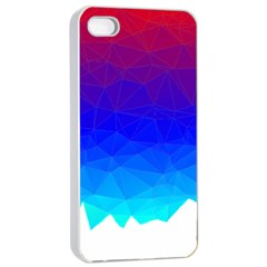 Gradient Red Blue Landfill Apple Iphone 4/4s Seamless Case (white)