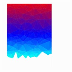 Gradient Red Blue Landfill Large Garden Flag (two Sides)