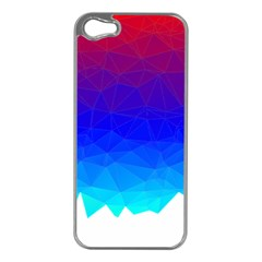 Gradient Red Blue Landfill Apple Iphone 5 Case (silver)