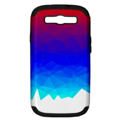 Gradient Red Blue Landfill Samsung Galaxy S Iii Hardshell Case (pc+silicone)