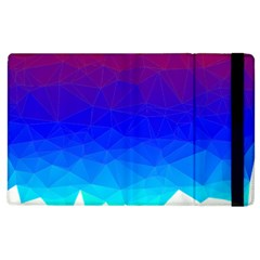 Gradient Red Blue Landfill Apple Ipad 3/4 Flip Case