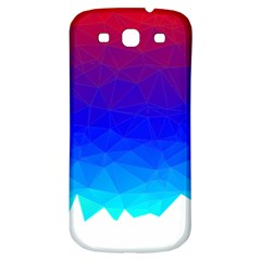 Gradient Red Blue Landfill Samsung Galaxy S3 S Iii Classic Hardshell Back Case