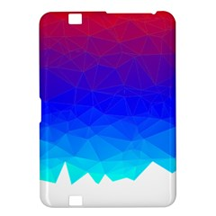 Gradient Red Blue Landfill Kindle Fire Hd 8 9