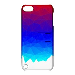 Gradient Red Blue Landfill Apple Ipod Touch 5 Hardshell Case With Stand