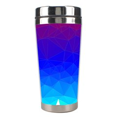 Gradient Red Blue Landfill Stainless Steel Travel Tumblers
