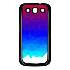 Gradient Red Blue Landfill Samsung Galaxy S3 Back Case (black)