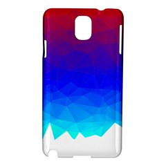 Gradient Red Blue Landfill Samsung Galaxy Note 3 N9005 Hardshell Case