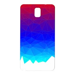 Gradient Red Blue Landfill Samsung Galaxy Note 3 N9005 Hardshell Back Case