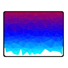 Gradient Red Blue Landfill Double Sided Fleece Blanket (small)