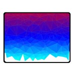 Gradient Red Blue Landfill Double Sided Fleece Blanket (Small)  45 x34 Blanket Back