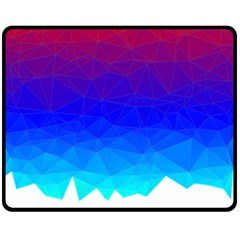 Gradient Red Blue Landfill Double Sided Fleece Blanket (medium)