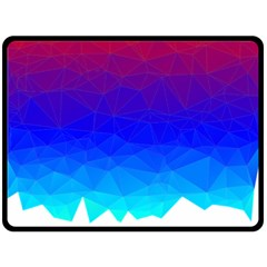 Gradient Red Blue Landfill Double Sided Fleece Blanket (large)