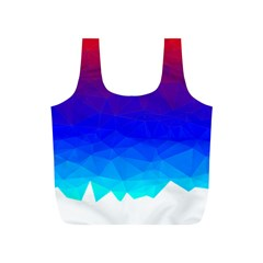 Gradient Red Blue Landfill Full Print Recycle Bags (S)
