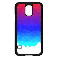 Gradient Red Blue Landfill Samsung Galaxy S5 Case (black)