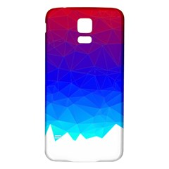 Gradient Red Blue Landfill Samsung Galaxy S5 Back Case (white)