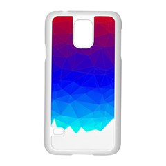 Gradient Red Blue Landfill Samsung Galaxy S5 Case (white)