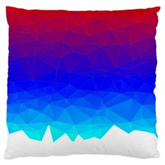 Gradient Red Blue Landfill Large Flano Cushion Case (one Side)