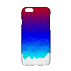 Gradient Red Blue Landfill Apple Iphone 6/6s Hardshell Case