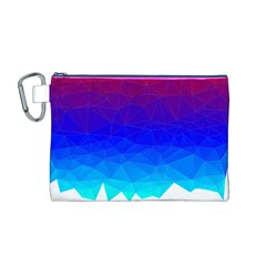 Gradient Red Blue Landfill Canvas Cosmetic Bag (m)