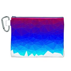 Gradient Red Blue Landfill Canvas Cosmetic Bag (xl)