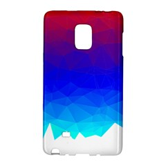 Gradient Red Blue Landfill Galaxy Note Edge