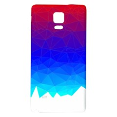 Gradient Red Blue Landfill Galaxy Note 4 Back Case