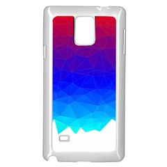 Gradient Red Blue Landfill Samsung Galaxy Note 4 Case (white)