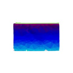 Gradient Red Blue Landfill Cosmetic Bag (xs)