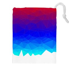 Gradient Red Blue Landfill Drawstring Pouches (xxl)