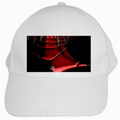 Red Black Fractal Mathematics Abstract White Cap