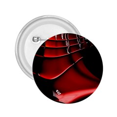 Red Black Fractal Mathematics Abstract 2.25  Buttons