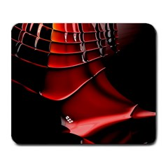 Red Black Fractal Mathematics Abstract Large Mousepads