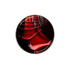 Red Black Fractal Mathematics Abstract Hat Clip Ball Marker