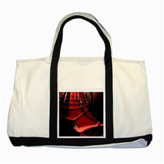 Red Black Fractal Mathematics Abstract Two Tone Tote Bag