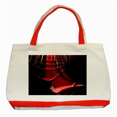 Red Black Fractal Mathematics Abstract Classic Tote Bag (red)