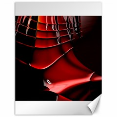 Red Black Fractal Mathematics Abstract Canvas 12  X 16