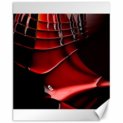 Red Black Fractal Mathematics Abstract Canvas 16  X 20