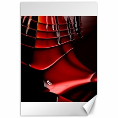 Red Black Fractal Mathematics Abstract Canvas 24  X 36