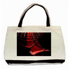 Red Black Fractal Mathematics Abstract Basic Tote Bag (two Sides)